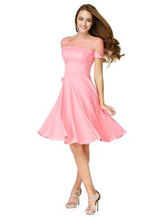 TS Couture® Cocktail Party Dress - Watermelon A-line Bateau Knee-length Jersey - USD $59.99
