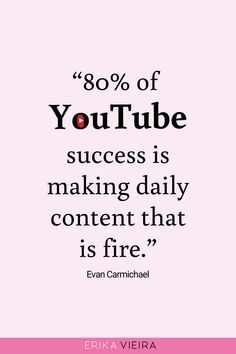 Even if you've been growing your channel for years, Evan Carmichael is here to share the details on how you can see massive growth in Let's go! Inspirational Quotes For Entrepreneurs, Our Love Quotes, Video Channel, To Move Forward, Business Look, Great Videos, You Youtube, Social Media Tips, Erika