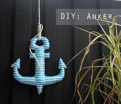 Pepelinchen - Kurzanleitung / DIY für einen genähten Anker aus Stoff