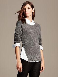 Annakastle Womens V Neck Stripes Oversized Boyfriend Sweater ...