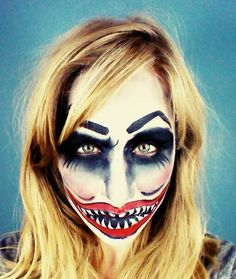 Scary Clown Makeup Tutorial! http://www.youtube.com/watch?v=JM36pd2ULRw