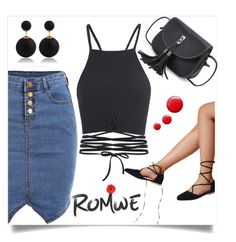 """Romwe 6/II"" by mirelaaljic ❤ liked on Polyvore featuring Topshop"