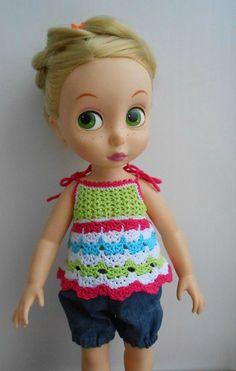 Doll Clothes / Disney Animator Doll Rapunzel / Crochet