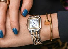 Read about this year's resurrection of the Panthère de Cartier collection. Our Carol Besler goes Hands-On with the models, different materials and a bit of the history behind it. Jewelry Box, Jewelery, Jewelry Accessories, Geek Jewelry, Stylish Watches, Cool Watches, Cartier Watches Women, Rolex, Cartier Panthere