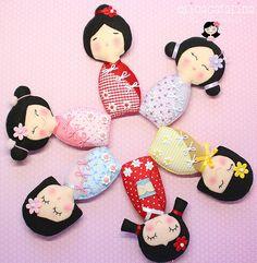 Kokeshis | A Kokeshi é uma boneca típica do Japão, com carac… | Flickr