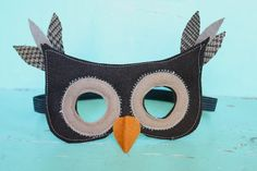 owl mask of felt - IMG_3563- At Second Street: costumes
