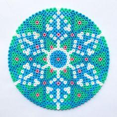Mandala en perles à repasser #Hama #Perlou
