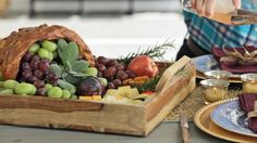 Edible Thanksgiving Centerpiece: Make a Bread Cornucopia Edible Centerpieces, Thanksgiving Centerpieces, Ways To Stay Healthy, Kitchen Herbs, Fall Table, Grow Your Own Food, Food Crafts, Bread, Hgtv