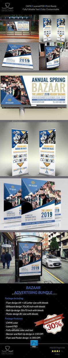 Bazaar Advertising Bundle - Signage Print Templates