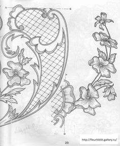 Anthology of embroidery, hemstitches - Yandex.Disk Anthology of embroidery, hemstitches … - Cutwork Embroidery, Embroidery Stitches, Embroidery Patterns, Tattoo Dentelle, Tattoo Project, Border Pattern, Parchment Craft, Doodle Designs, Sewing Art