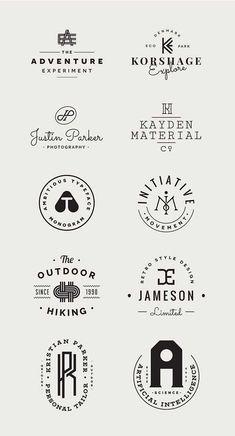Monogram free vector logo templates kit for branding projects Design Blog, Graphic Design Inspiration, Web Design, Monogram Logo, Typo Logo, Logo Branding, Sg Logo, Typographie Logo, Logo Samples