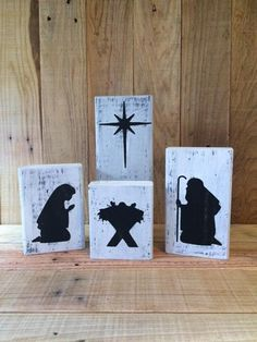Your place to buy and sell all things handmade Christmas Bazaar Crafts, Wooden Christmas Crafts, Christmas Nativity Set, Christmas Blocks, Kids Christmas Ornaments, Christmas Tree Themes, Diy Christmas Gifts, Christmas Projects, Christmas Art