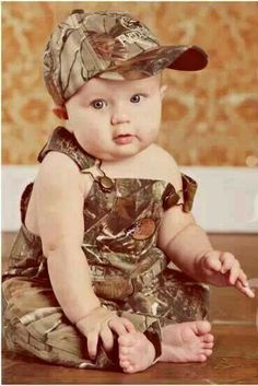 #country charm baby in camo #baby boy #overalls #kids