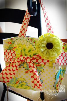 Very cute and looks easy enough to do. Strawberry Owl Designs: Scripture Tote Tutorial II