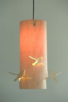 bent aircraft plywood bird lamp4