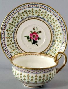 A Nantgarw cup and saucer