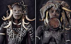 Mursi (Éthiopie) http://www.affairesdegars.com/page/article/4156049920/46-photos-saisissantes-des-tribus-les-plus-reculees-du-monde-avant-elles-ne-disparaissent.html Version Voyages www.versionvoyages.fr