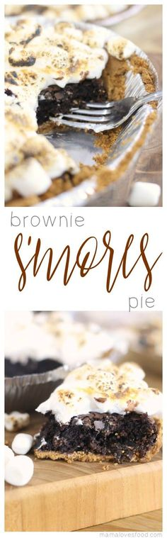 Brownie S'mores Pie