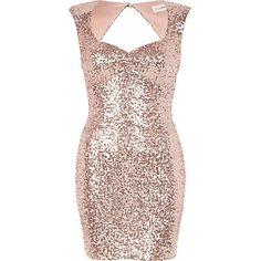 Light pink Lashes of London sequin dress - branded dresses - dresses - women