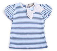 Darcy Brown Cornflower Blue Bow T-Shirt Brand NEW