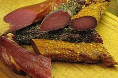 Pork loin air dried by kleemy Sausage Recipes, Pork Recipes, German Meat, Best Sausage, Sausage Balls, Biltong, How To Make Sausage, Pumpkin Spice Cupcakes, Smoking Meat