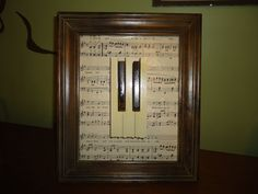 Recycled Piano Key Framed Art by martahansen on Etsy, $30.00
