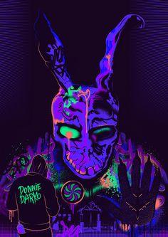 Donnie Darko - Alternative Movie Poster: Blacklight on Behance Retro 4, Donnie Darko Movie, Donnie Darko Tattoo, Poster Design Software, Katharine Ross, Horror Posters, Horror Films, Arte Cyberpunk, Alternative Movie Posters