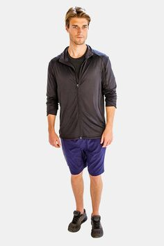 40% OFF!! Buy This Stunning Solid Black Mens Jacket from Alanic Activewear