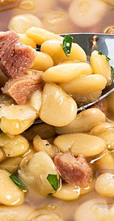 Instant Pot Lima Beans and Ham is so easy to prepare in your pressure cooker - Tastes like it slow cooked all day in a fraction of the time! Lima Beans In Crockpot, Lima Beans And Ham, Cooking Lima Beans, Cooking Ham In Crockpot, Beans And Sausage, Cooking Recipes, Cook Ham, Ham Recipes, Lima Bean Soup