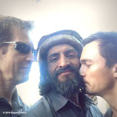 """""""Mmm.  I love the smell of beard in the morning."""" PS the other guy is Chip, 1 of our writers.  He monitors our work VERY closely...#homeland"""