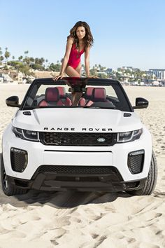 Spectre's Naomie Harris Shows Off Fit Figure in Sexy Swimsuit: Photo Naomie Harris shows off her amazing figure while posing in some sexy swimsuits fro a new photo shoot to introduce the Range Rover Evoque. The Spectre… New Range Rover Evoque, The New Range Rover, Range Rover Sport, Motocross, Pink Range Rovers, Ranger, Land Rover Freelander, Jaguar Land Rover, Roadster