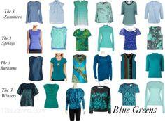 Uniform Dressing 5 Blue Greens