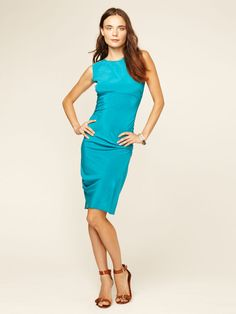 Dive Ruched Silk Dress by Gryphon on Gilt.com
