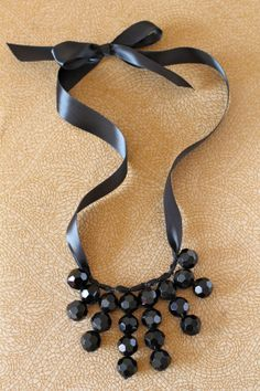This cute necklace could easily be created in any color using Fizzy Pops AB Faceted beads!