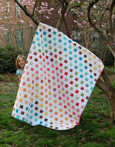Modern Workshop Jelly Roll Quilt - free pattern by blissy