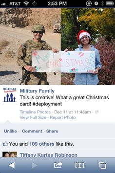 deployment christmas card....... CUTE! military army