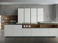 cuisine contemporaine en blanc par Comprex
