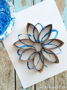 Toilet Paper Roll Snowflake Craft | The Jenny Evolution
