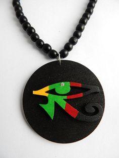Mapa de bandera de Jamaica Rasta Cable Cadena Collar Colgante jamaicano Afro Caribe UK