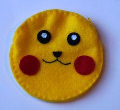 Pikachu pokemon coin purse by TosTosia