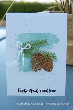 Weihnachtskarte mit dem Stempelset Tannenzauber / Christmas Pines und den Thinlits Tannen und Zauber / Pretty Pines von Stampin' Up!