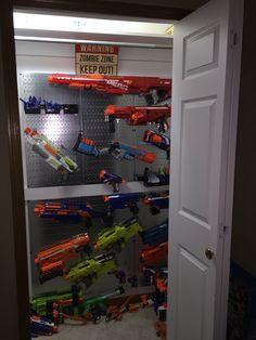 Nerf Gun Rack | by MPelletier71 Nerf Gun Rack | by MPelletier71