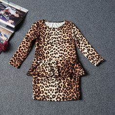 4.86$  Watch here - Cute Child Baby Kids Girls Leopard Print Mini Short Dress Party Casual Clothes 3-10Y   #magazineonlinebeautiful