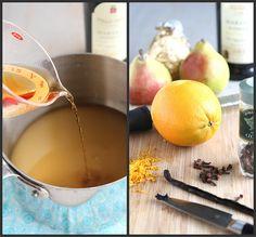 Marsala Poached Pears w/ Mascarpone Cheese