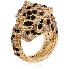 ROBERTO CAVALLI Panther Ring With Swarovski Crystals