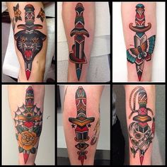 Traditional Daggers, Andrea Furci tattoo