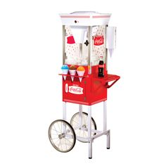 Nostalgia Electrics Coca-Cola Series Old Fashioned Snow Cone Cart | Overstock.com
