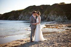 Ollie and Lottie's Cornish seaside wedding at Rosevine