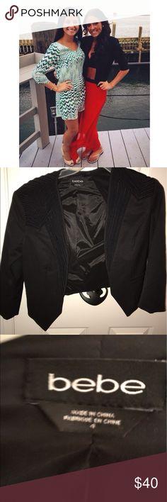 Bebe Black Blazer Black dressy blazer, great condition bebe Jackets & Coats Blazers