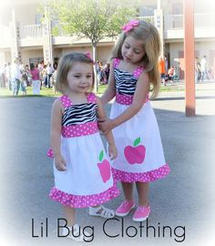 Custom Boutique Clothing Back to School Pink by LilBugsClothing, $42.00